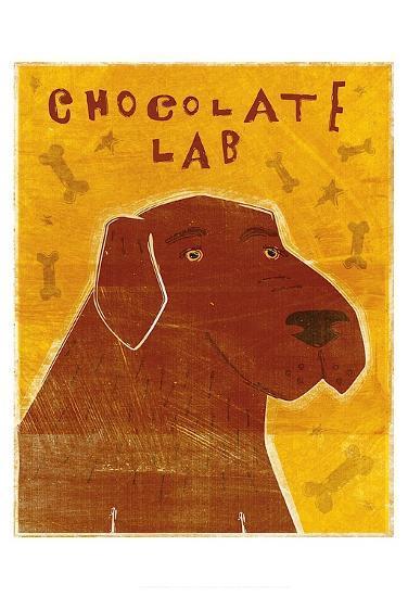 Lab (chocolate)-John W^ Golden-Art Print