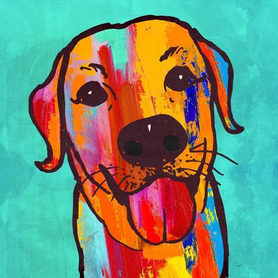 Lab Happy!-Evangeline Taylor-Art Print