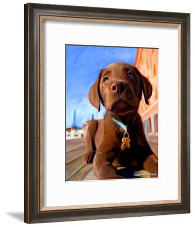 Lab Puppy-Robert Mcclintock-Framed Art Print