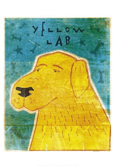 Lab (yellow)-John W^ Golden-Art Print