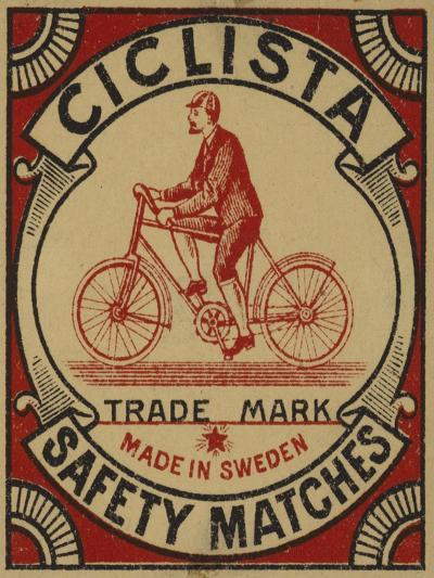 Label for Ciclista Safety Matches--Giclee Print