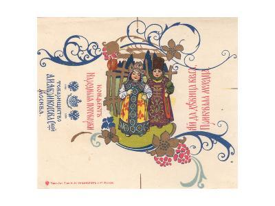 """Label for Confectionery - """"Russian Proverbial Sayings""""--Giclee Print"""
