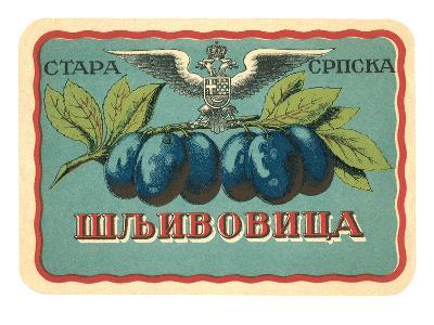 Label for Russian Grape Product--Art Print