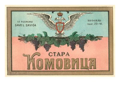 Label for Yugoslavian Wine--Art Print