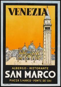 Label from the Albergo and Ristorante San Marco, Venice, Italy