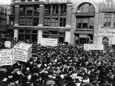 Labor Strikers Marching in Union Square--Photographic Print