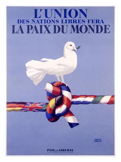 Labor Union Dove-Paul Colin-Giclee Print