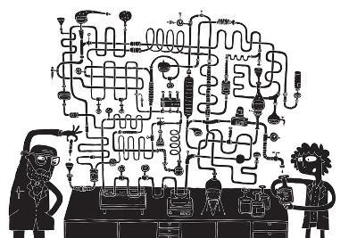 Laboratory Maze Game-vook-Art Print