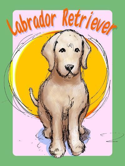 Labrador Retriever 3-Cathy Cute-Giclee Print