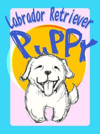 Labrador Retriever Puppy-Cathy Cute-Giclee Print