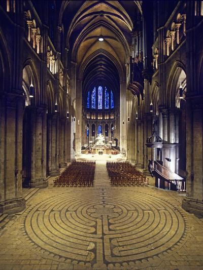 Labyrinth, Chartres Cathedral, France--Photographic Print