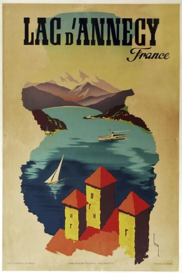 Lac Annecy of France--Giclee Print