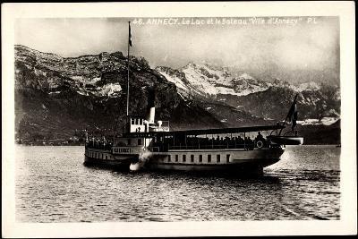 Lac D'Annecy, Bateau Ville D'Annecy, Dampfer--Giclee Print
