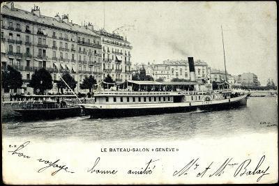 Lac Leman, Dampfer Genève, Bateau Salon, Stadt--Giclee Print