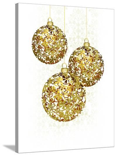 Lace Golden Ornaments-Advocate Art-Stretched Canvas Print