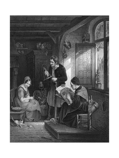 Lace Making, Flanders--Giclee Print