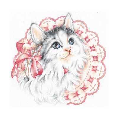 Lacey Kitten-Karen Middleton-Giclee Print