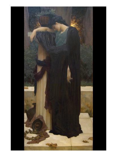 Lachrymae (Mary Lloyd)-Frederick Leighton-Art Print