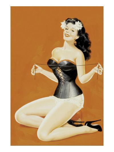 Lacing Her Bra-Peter Driben-Art Print