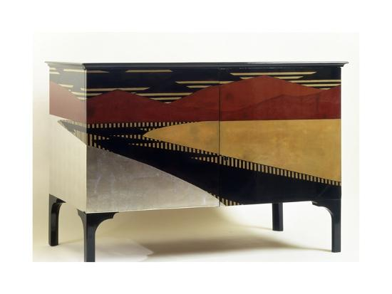 Lacquered Art Deco Style Cabinet--Giclee Print