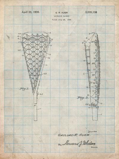 Lacrosse Stick 1935 Patent-Cole Borders-Art Print