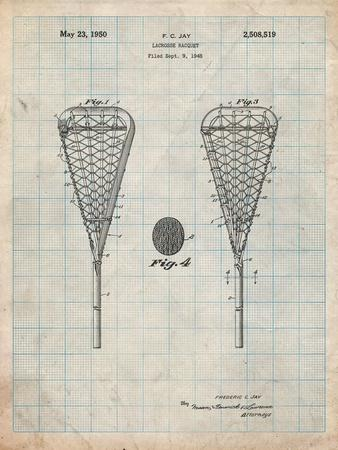 Lacrosse Stick 1948 Patent-Cole Borders-Art Print