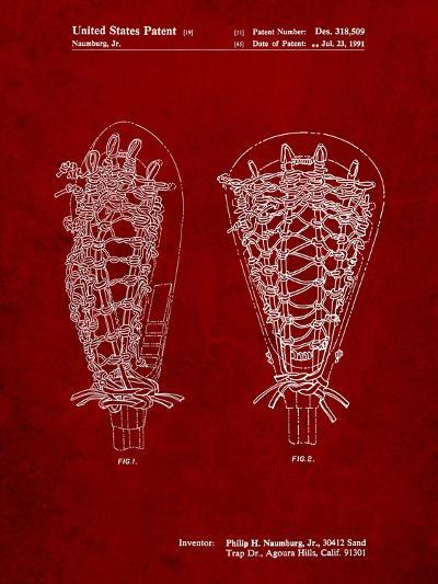 Lacrosse Stick Patent-Cole Borders-Art Print