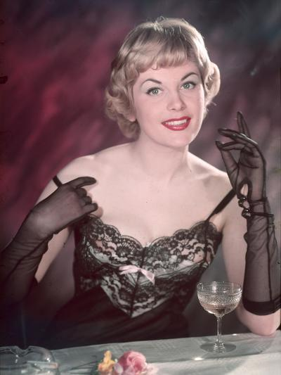 Lacy Lingerie Pin-Up-Charles Woof-Photographic Print