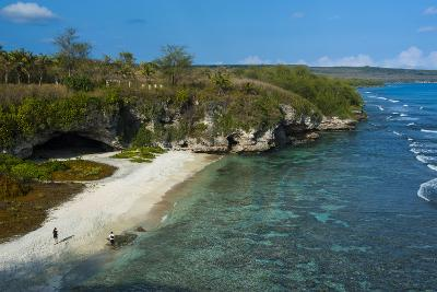 Ladder Beach, Saipan, Northern Marianas, Central Pacific, Pacific-Michael Runkel-Photographic Print