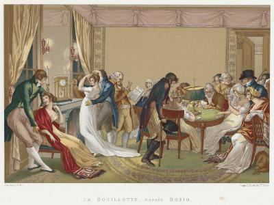 Ladies and Gentlemen Playing La Bouillotte, France, C1804-1814-Jean Francois Bosio-Giclee Print
