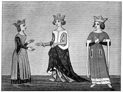 Ladies' Dress, 14th Century--Giclee Print