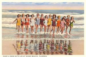 Ladies in Surf, Miami Beach, Florida
