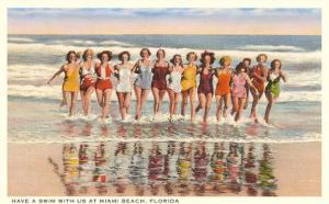 Ladies in Surf, Miami Beach, Florida
