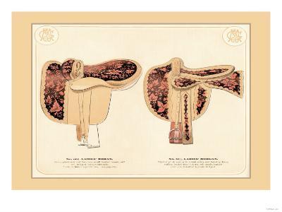 Ladies' Mohan and Morgan Saddles--Art Print