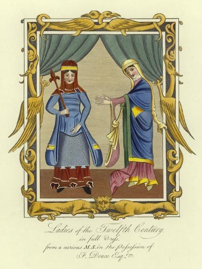 Ladies of the 12th Century in Full Dress--Giclee Print
