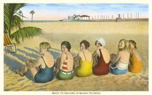 Ladies on Beach, Florida