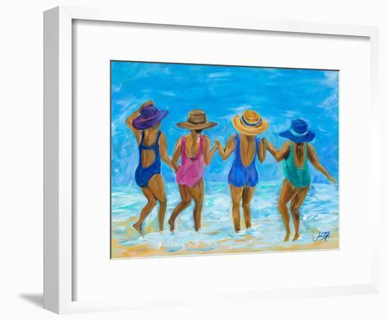 Ladies on the Beach I-Julie DeRice-Framed Art Print