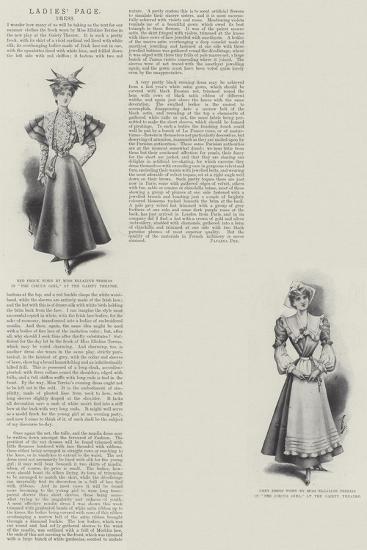 Ladies' Page, Dress--Giclee Print