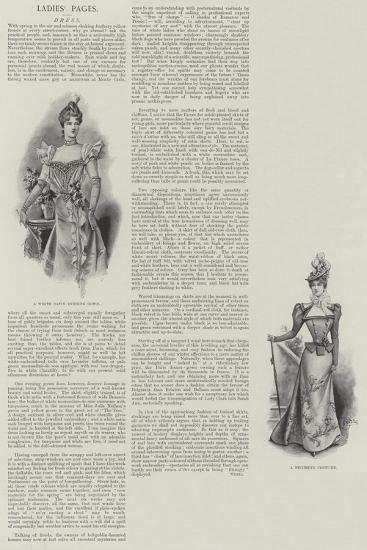 Ladies' Pages, Dress--Giclee Print