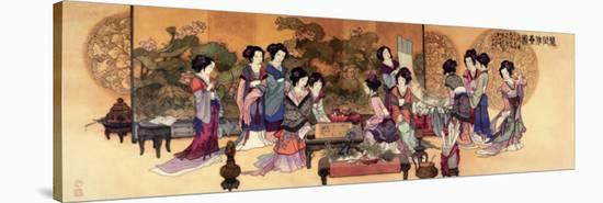 Ladies Playing Game--Stretched Canvas Print