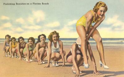 Ladies Playing Leap-Frog, Florida