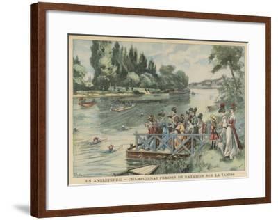 Ladies Swim Contest 1905--Framed Giclee Print
