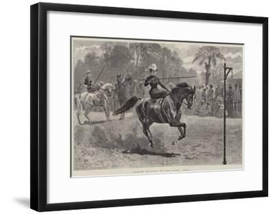 Ladies Tilting at the Ring, India--Framed Giclee Print