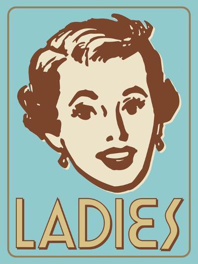 Ladies Turquoise-Retroplanet-Giclee Print