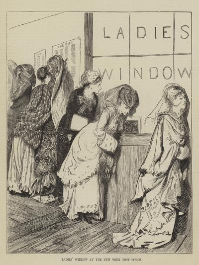 Ladies' Window at the New York Post-Office-Arthur Boyd Houghton-Giclee Print