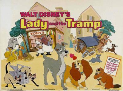 Lady and the Tramp, UK Movie Poster, 1955