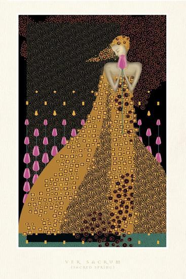 Lady and Tulips-FS Studio-Giclee Print