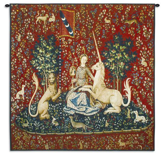 Lady and Unicorn Sight--Wall Tapestry