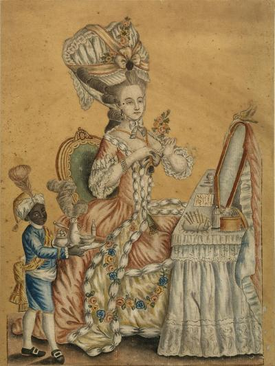 Lady at a Toilette with a Black Boy, 1770S--Giclee Print