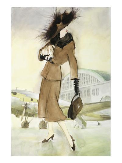 Lady at Airport-Graham Reynold-Art Print